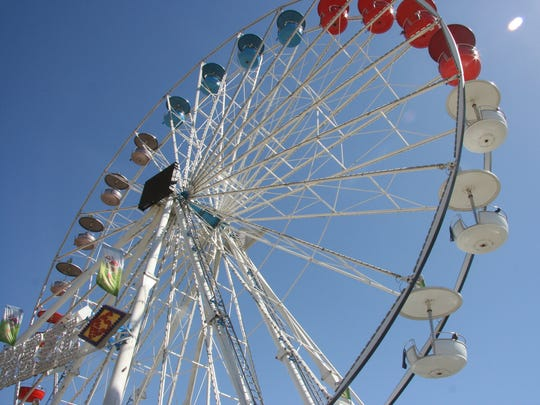 You can hop aboard more than 30 carnival rides at Conejo