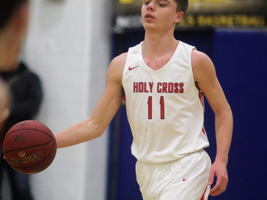 Holy Cross senior Andrew Wahl during Holy Cross' 65-63