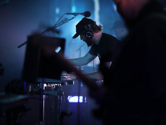 Musician Bon Iver performs on the Coachella Stage during