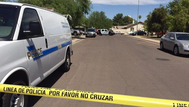 Mesa police said one person was injured but no officers were hurt in an officer-involved shooting near Mesa Drive and Broadway Road on July 6, 2015.