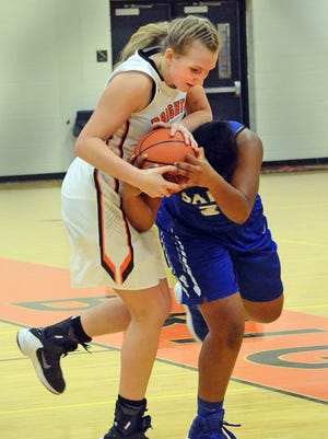 Freshman Sophie Dziekan is the third girl from her family to play basketball at Brighton.