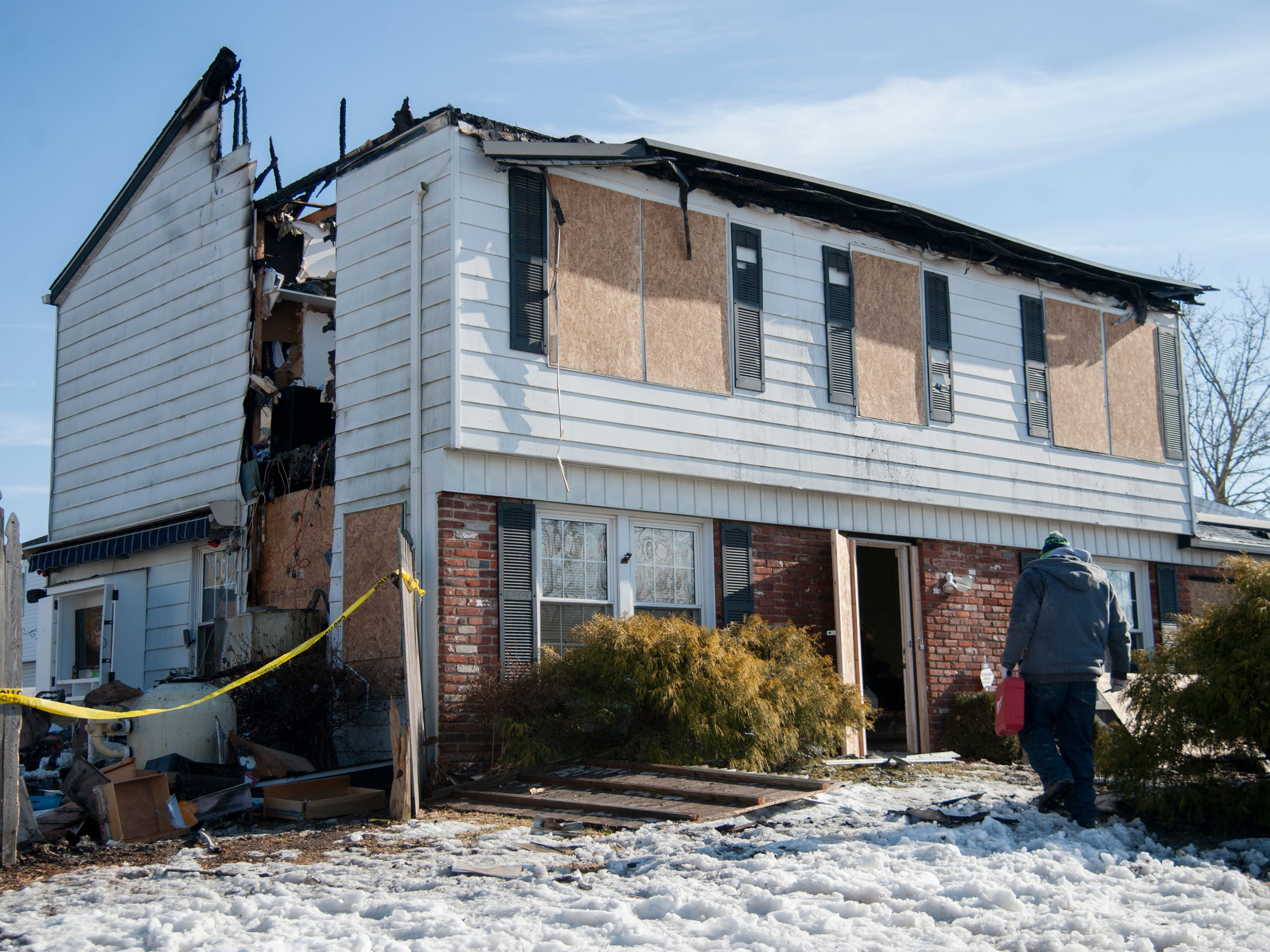 The Williamstown home of Joe Parisi and his family was destroyed by fire Sunday morning. Parisi's daughter Donna, 25, is a volunteer firefighter with the Williamstown Fire Company. The fire company launched a collection for the family Monday seeking monetary donations and gift cards for groceries and essentials.
