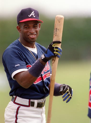 OF Deion Sanders: Yankees (1989-90), Braves (1991-94),