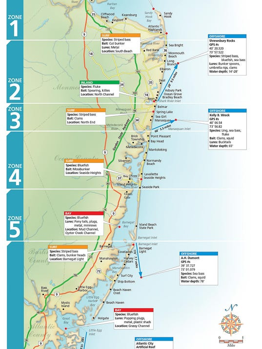 Find out what 39 s biting and where along the jersey shore for Atlantic highlands fishing report