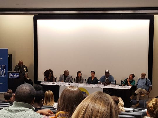 A diverse group of seven community members shared their experiences Monday evening with Iowa officialsand other audience members.