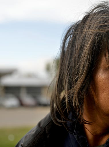"""Deland Red Boy is homeless and says he panhandles everyday to survive in Wolf Point.  In 2013 he was one of the people picked up in the """"Wino Roundup"""" executed by tribal police on the Fort Peck Indian Reservation, and which was later deemed a civil rights violation in an investigation conducted by the BIA."""