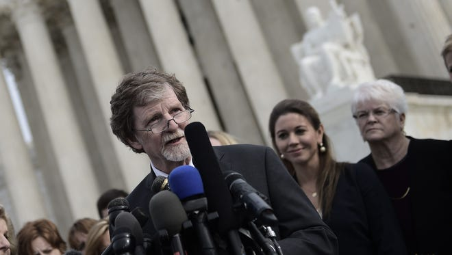 "Colorado ""cake artist"" Jack Phillips asked the Supreme Court for the right to refuse creating a wedding cake for a gay couple's celebration."