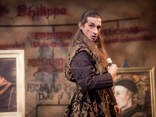 "Giles Davies plays Richard, Duke of York in Cincinnati Shakespeare Company's production of William Shakespeare's ""Henry VI: The Wars of the Roses, Part 2."""