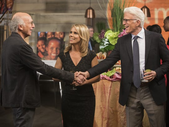 The fictional Larry David gets a rude awakening when