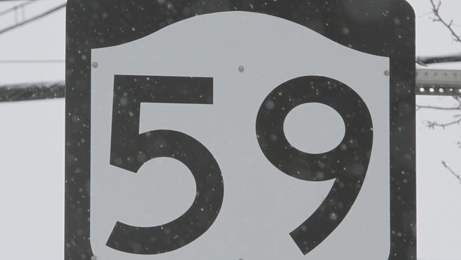 Route 59 Sign Feb. 18, 2014.