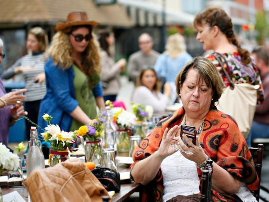 """The Fourth Annual Farm to City Street Dinner on Beaver Street in York City, Sunday, Oct. 2, 2016. North Beaver Street has been designated a """"Great Street"""" by the Pennsylvania chapter of the American Planning Association. Dawn J. Sagert photo"""