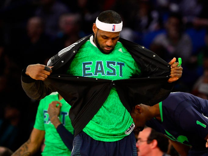 LeBron James again leads the Eastern Conference All-Stars