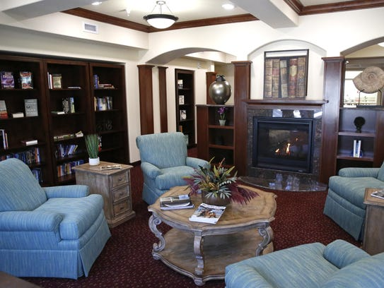 The library at Mulligan Park, a new independent retirement