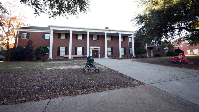 Sigma Alpha Epsilon house on campus of University of Southern Mississippi.