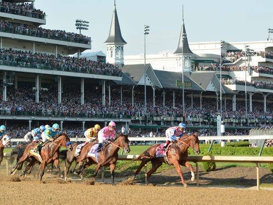 Jacob Zimmer/Special to the Courier-JournalJacob Zimmer/Special to The Courier-JournalDortmund holds the lead past the first turn at last year's Kentucky Derby. The colt finished third after going off as the second favorite behind eventual winner American Pharoah. Dortmund has an early lead past the first turn of the 141st Kentucky Derby at Churchill Downs. Saturday May 1, 2015.
