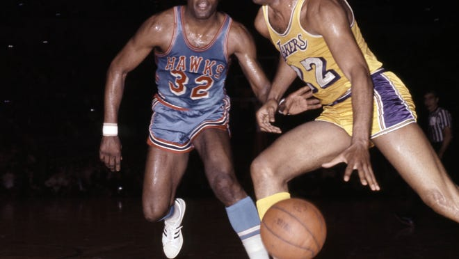 Elgin Baylor is among six Lakers luminaries to have a statue outside of Staples Center, including Magic Johnson, Jerry West, Kareem Abdul-Jabbar, Shaquille O'Neal and former team announcer Chick Hearn.