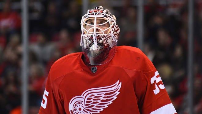 Jan 23, 2016; Detroit Red Wings goalie Jimmy Howard.