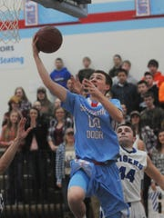 Southern Door's Trevor Hawkey drives past Wrightstown's