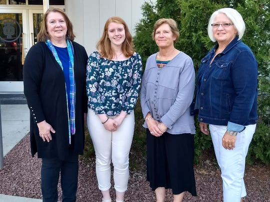 Lakeshore Business and Professional Women awarded three $1,000 scholarships in May. Pictured from left: Lauretta Krcma-Olson, BPW president and Scholarship Committee; Sydney Herman, scholarship recipient, Mishicot High School; Karen Schweitzer-Olson, Scholarship Committee chairman; and Sherry Rezba, Scholarship Committee. Absent from the photo were two additional scholarship recipients: Alexis Breunig, Manitowoc Lincoln High School, and Alissa Wagner, Valders High School.