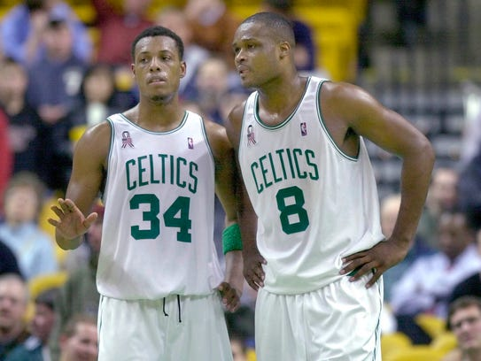 Celtics forwards Paul Pierce and Antoine Walker talk