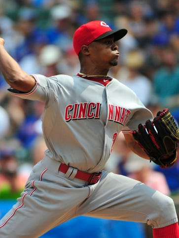 Cincinnati Reds starting pitcher Raisel Iglesias (26)