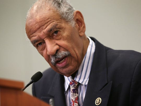 Rep. John Conyers, D-Mich., speaks at a session during