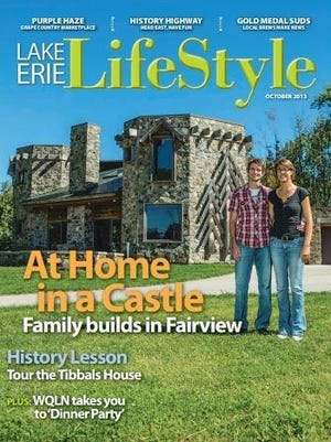 Christopher and Christine Cedzo, who built a stone home that stands at the curve of Naeff and Uhlman roads were featured on the October 2013 cover of Lake Erie Lifestyle.