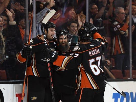 USP NHL: EDMONTON OILERS AT ANAHEIM DUCKS S HKN ANA EDM USA CA
