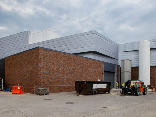 An exterior view of the southwest corner of the Facility for Rare Isotope Beams at Michigan State University.