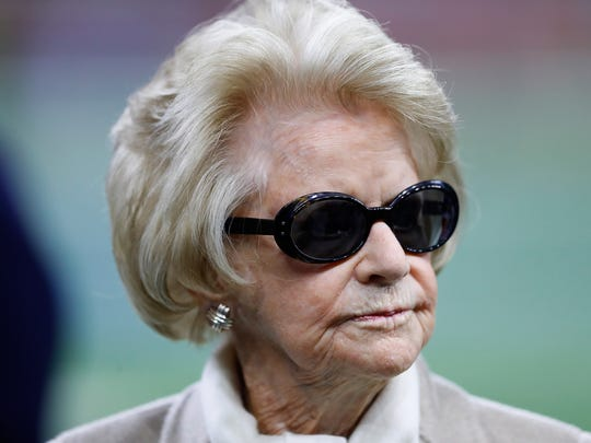 Lions owner Martha Ford on the sideline prior to the