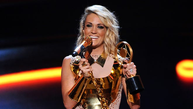 Carrie Underwood at the American Country Countdown Awards on May 1.