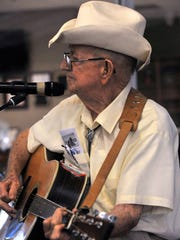 "Charles Caldwell sings ""Delta Dawn"" during auditions for the Senior Talent Show July 7, 2017, at Rose Park Senior Center."