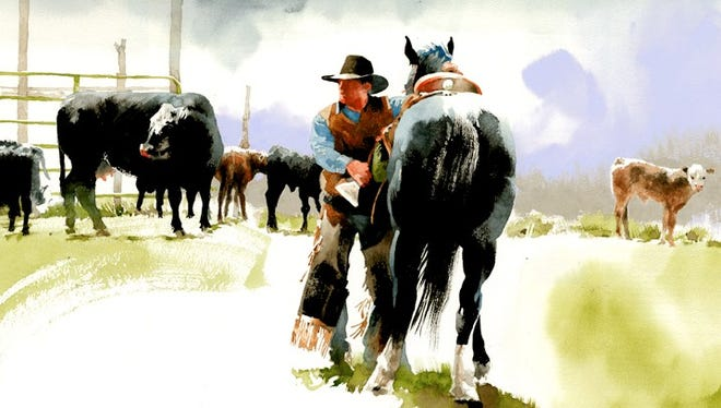 """Carter and the Black"" by Don Weller, who is one of four artists whose works will be featured in the American Plains Artists Special Show at Fort Concho from June 29-July30."
