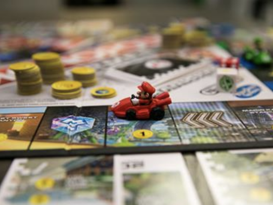 "Hasbro and Nintendo recently teamed up to create a new Monopoly game called ""Monopoly Gamer: Mario Kart Edition."""