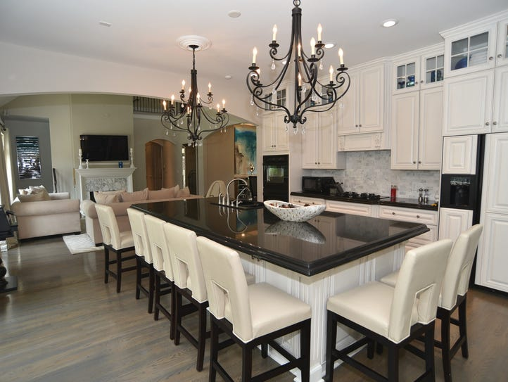 The kitchen at 1983 Eagle Trace Drive features a large