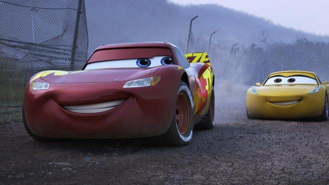 "In ""Cars 3,"" Lightning McQueen, left (voiced by Owen Wilson), encounters Cruz Ramirez (Cristela Alonzo)."