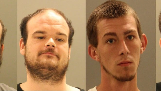 Allen Schafferman, 22; James Schafferman, 25; Brandon Veltre, 24; and Jessejames Hutchison, 20, recently were arrested by New Castle County Police for stealing from cars.
