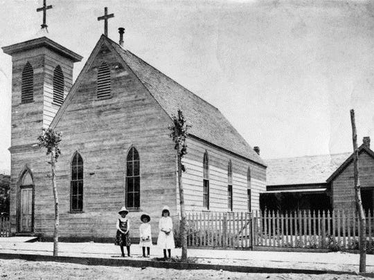 St. Clement's Episcopal Church.  Built in 1882 and torn down in 1907 when a new church was built on N. Campbell at Montana.
