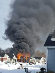 A fire destroyed a home in Lewes on Monday, Jan. 8,