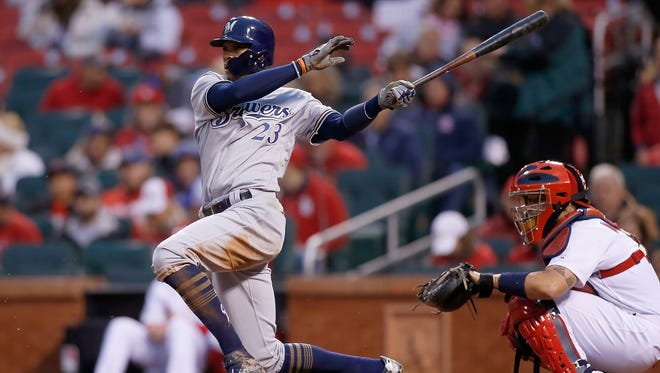 Making more contact has helped Keon Broxton and the Milwaukee Brewers compile more victories of late.