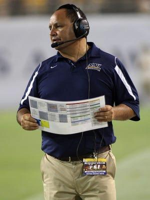 NAU coach Jerome Souers looks on in a 2008 game against ASU at Sun Devil Stadium.