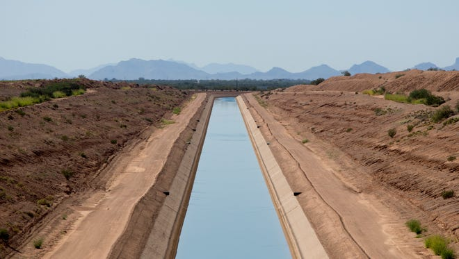 The Central Arizona Project Canal on Oct. 1, 2014, near Picacho Peak.