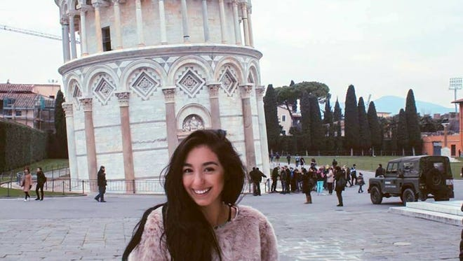 Missionary Amber Tsougas visited the Leaning Tower of Pisa during her work abroad. The 20-year-old is a 2014 graduate of Deming High School.