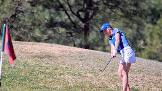 After winning the Class 4A/1A District Tournament Monday, the girls team prepares for the Golf State Championship May 8 and 9 at Pinon Hills Golf Course in Farmington.