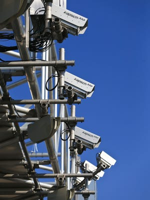 The RiverLink transponder cameras are set up above I-65 near the Kennedy Bridge in Jeffersonville. Personal vehicles with a transponder will pay $2 to cross; those without being registered will pay $4. Two axle vehicles taller than 7-1/2 feet will pay $5 to cross with a transponder.