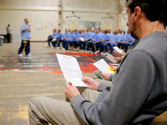 A group of Palma High School faculty and staff visited the Correctional Training Facility prison in Soledad.