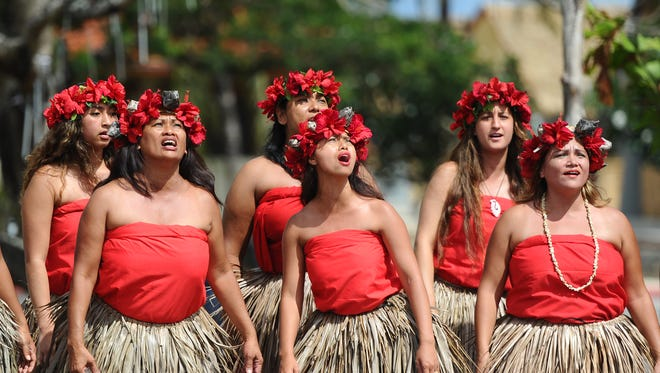 Pa'a Taotao Tano cultural dancers perform a Chamorro blessing in this file photo.