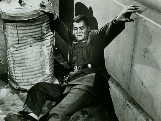 "Tony Curtis plays Ira Hayes in 1961's ""The Outsider."""