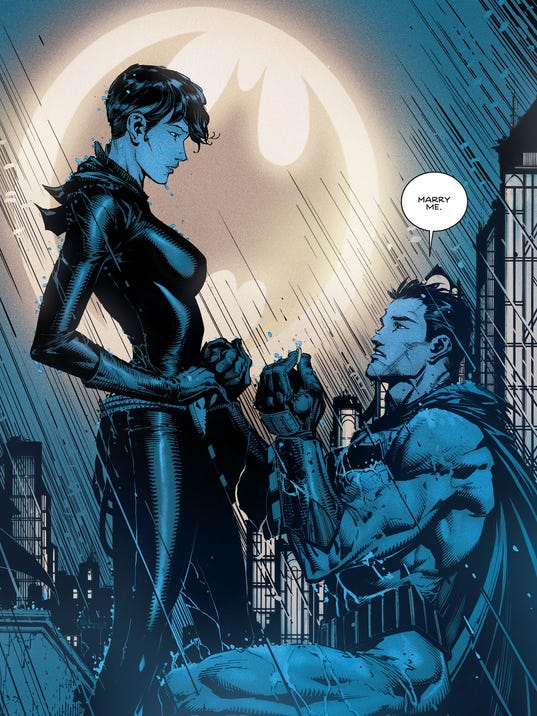 Batman asks catwoman to marry him in new comic exclusive batman proposal voltagebd Image collections