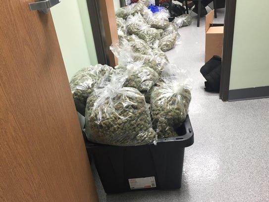 Authorities also seized 3,500 pounds of marijuana in